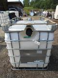 275Gallon Poly Tank w/ Aluminum Frame