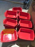 (20) Red Ceramic Au Gratin Dishes
