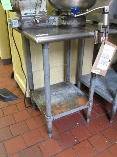 SS Equipment Stand w/ Sysco Can Opener