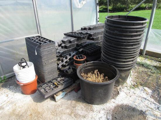 Lot of Poly Flats & Pots