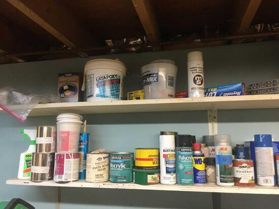 Lot of Paints, Stains, Adhesives, etc.