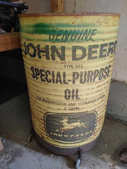 Vintage John Deere Steel Drum