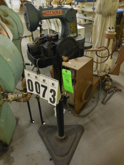 Chandler Hand Crank Button Sew Auctions Online Proxibid Fascinating Chandler Button Sewing Machine 471