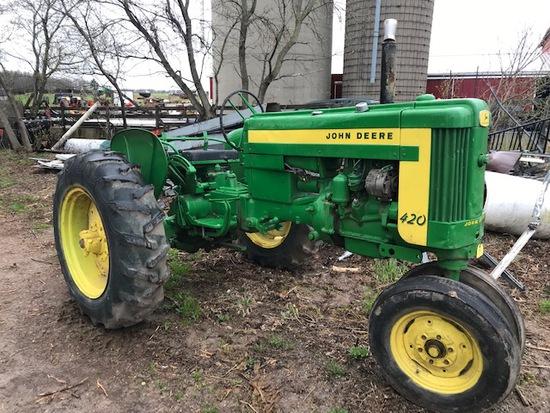 John Deere 420T Tractor