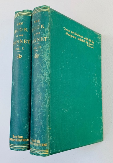 The Book of the SONET (1867) Two Volumes - Shakespeare - Longfellow - Shelley