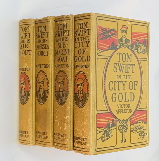 COLLECTION of Tom Swift Antique Juvenile Books by Victor Appleton