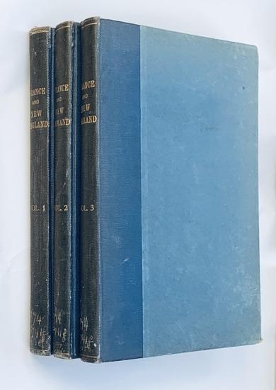 France and New England (1929) Three Volume Set - Revolutionary War - Lafayette