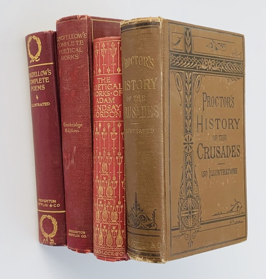 ANTIQUARIAN BOOK LOT including Proctor's HISTORY OF THE CRUSADES (c.1880)