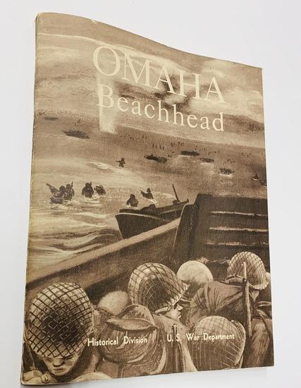 RARE Omaha Beachhead (1945) Historical Division American Forces Book