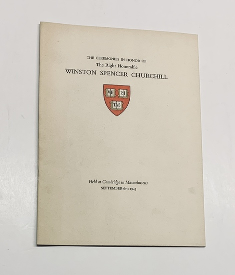 RARE The Ceremonies in Honor of the Right Honorable Winston Spencer Churchill (1943) WW2