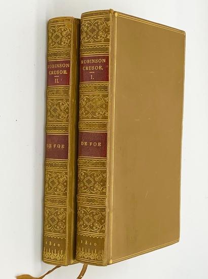 RARE Robinson Crusoe (1840) Novels and Miscellaneous Works of Daniel De Foe