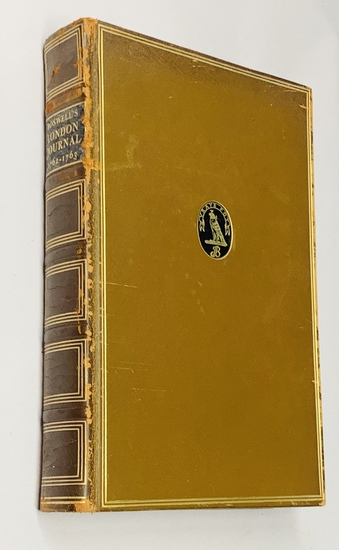 BOSWELL'S LONDON JOURNAL: 1762 - 1763 De Luxe Leather Edition (1950)