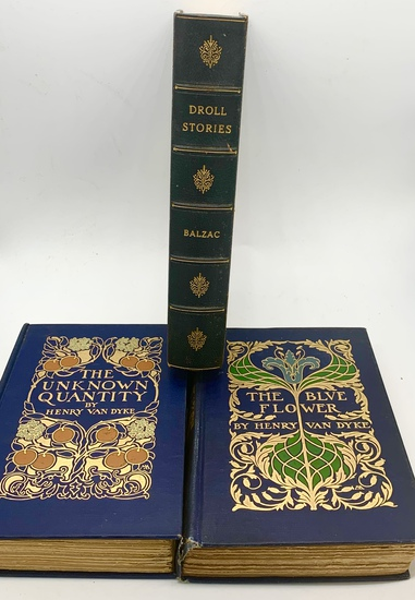 ANTIQUARIAN BOOK LOT with Decorative Bindings