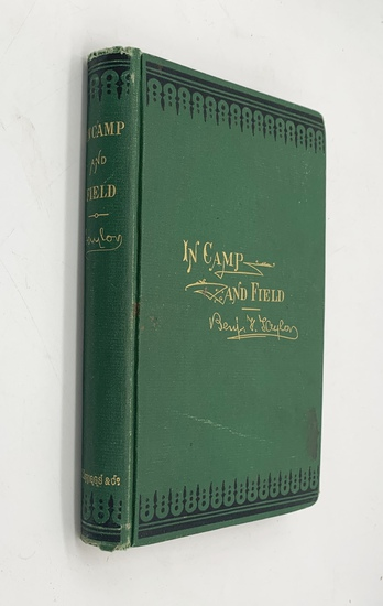 RARE SIGNED Pictures of Life in Camp and Field Benjamin F. Taylor (1875) CIVIL WAR
