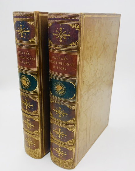 RARE The Constitutional History of England (1850) Decorative Leather Bindings