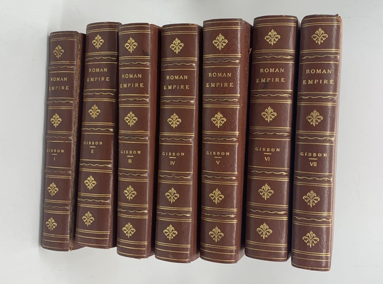 The History of the Decline and Fall of the Roman Empire (c.1910) SEVEN VOLUME SET