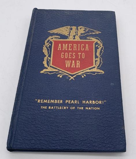 AMERICA GOES TO WAR (1941) Franklin D. Roosevelt Message - PEARL HARBOR