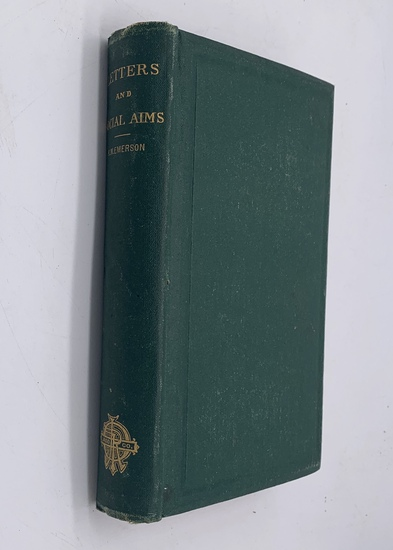 RARE Letters and Social Aims by Ralph Waldo Emerson (1876) First Edition FIRST PRINTING