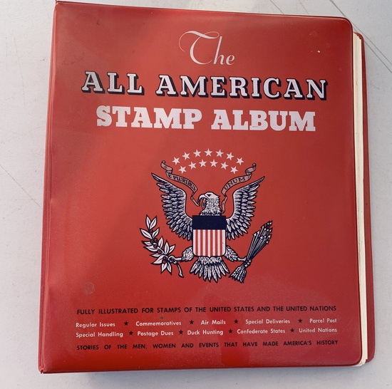 The ALL AMERICAN STAMP ALBUM with Tons of Stamps