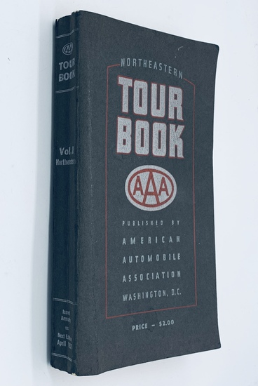 Northeastern TOUR BOOK Published by American Automobile Association (1936)