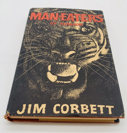 Man-Eaters of Kumaon (1946) Most Famous TIGER HUNTING Book in Print - With Dust Jacket
