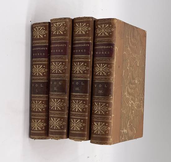 The Dramatic Works of William Shakespeare (c.1880) Four Volume Set