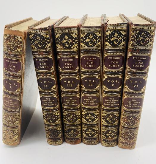 RAREST The History of Tom Jones, A Foundling Henry Fielding (1749) SIX VOLUME SET
