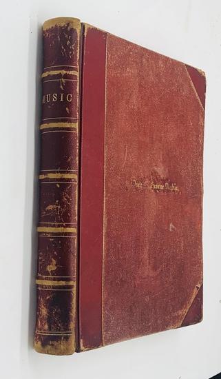 LARGE BOUND VOLUME of 1870's Sheet Music - Many Illustrated
