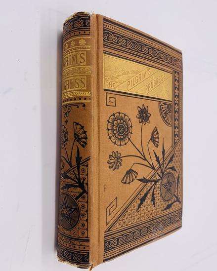The PILGRIM'S PROGRESS by John Bunyan (c.1880) Decorative Binding