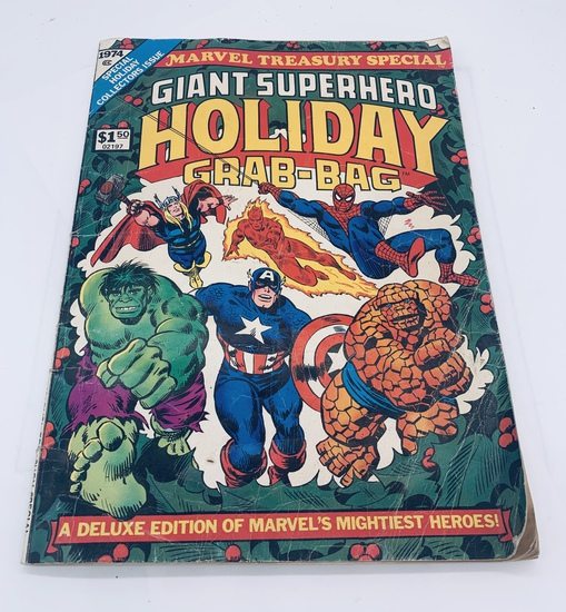 Large GIANT SUPERHERO HOLIDAY GRAB-BAG Comic Book - Large Format