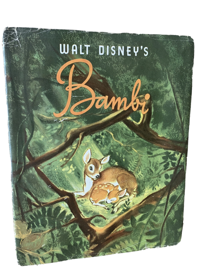 FIRST EDITION Walt Disney's Bambi by Felix Salten (1941) with Dust Jacket