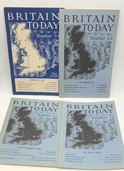 (7) BRITAIN TO-DAY Magazines WW2 ERA 1940-1941 - London