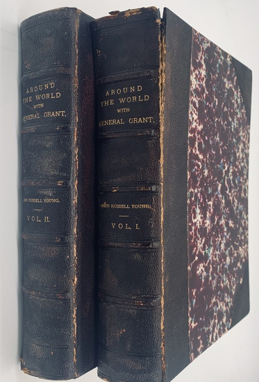RARE Around the World with GENERAL GRANT (1879) Two Volume Set