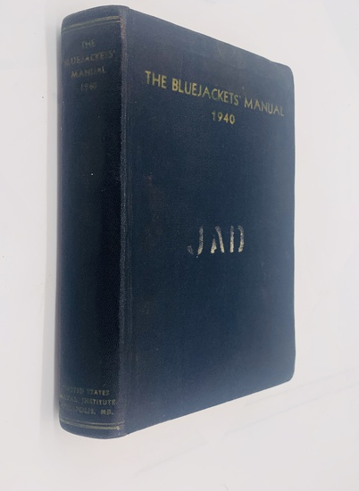 The Bluejacket's Manual (1940) WW2 United States NAVY