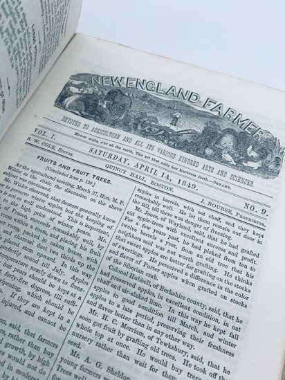 The NEW ENGLAND FARMER Journal (1849) Agriculture Horticulture Arts Sciences