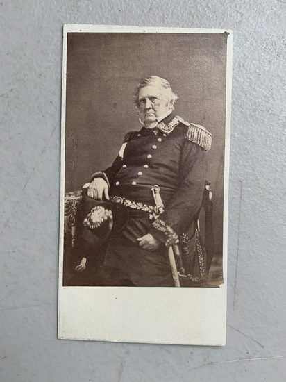 CIVIL WAR CDV of General Winfield Scott (1865)