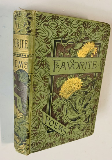 FAVORITE POEMS from English and American Authors (1886) Decorative Cover
