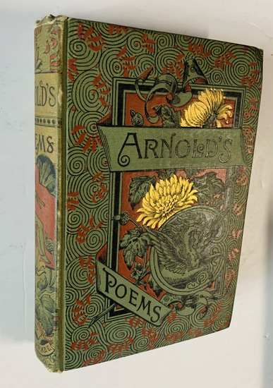 ARNOLD'S POEMS Including the LIGHT OF ASIA Teachings of Guatama Buddhist (c.1886) Decorative Cover