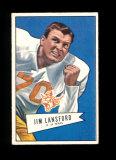 1952 Bowman Small Football Card #144 Rookie Jim Lansford Dallas Texans. EX/