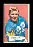 1952 Bowman Large Football Card  #78 Hall of Famer Bobby Layne Detroit Lion