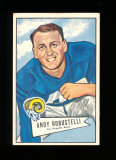 1952 Bowman Large Football Card #85 Rookie Hall of Famer Andy Robustelli Lo