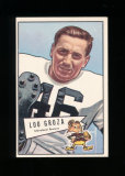 1952 Bowman Large Football Card #105 Hall of Famer Lou Groza Cleveland Brow