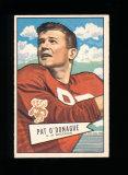 1952 Bowman Large Football Card Scarce Short Print #117 Rookie Pat O'Donagu