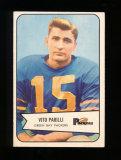 1954 Bowman Football Card #10 Babe Parelli Green Bay Packers. EX/MT - NM Co