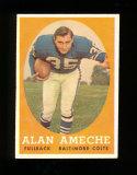 1958 Topps Football Card #12 Alan Ameche Baltimore Colts (1954 Heisman Trop