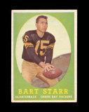 1958 Topps Football Card #66 Hall of Famer Bart Starr Green Bay Packers. EX
