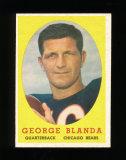 1958 Topps Football Card #129 Hall of Famer George Blanda Chicago Bears. EX