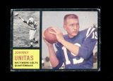 1962 Topps Football Card #1 Hall of Famer Johnny Unitas Baltimore Colts. G-