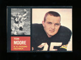 1962 Topps Football Card Scarce Short Print #65 Tom Morre Green Bay Packers