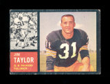1962 Topps Football Card Scarce Short Print #66 Hall of Famer Jim Taylor Gr